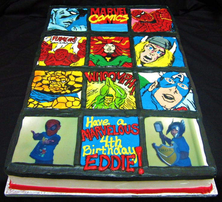 A custom birthday cake inspired by Marvel Comics and a ...