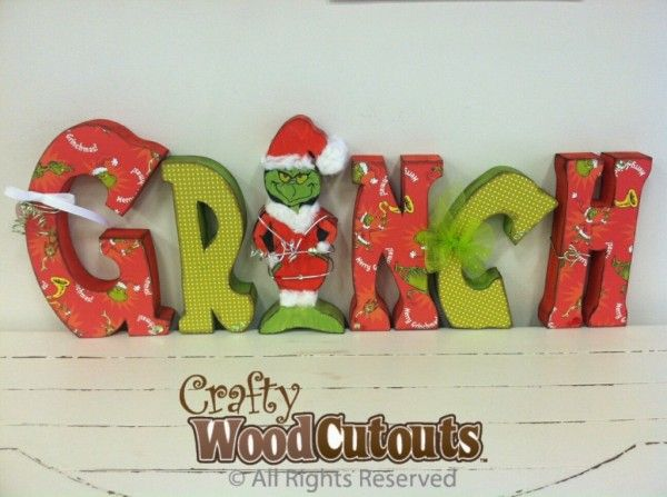 Grinch December Unfinished Wood Craft. This craft is about 27″ wide by 10″ tall and costs $20.99.