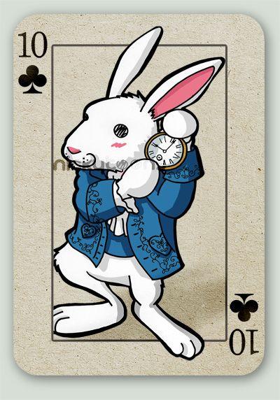 Tim Burton's Alice card series. White Rabbit.