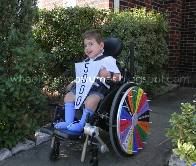Wheelchair Costumes: Wheel of Fortune Wheelchair Costume