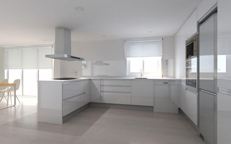 Minimalism kitchen @ Lara Sempere #holaLa #white #kitchen #interiordesign