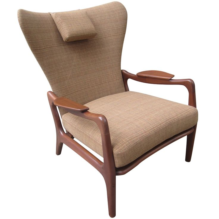 Adrian Pearsall Lounge Chair On Walnut Frame
