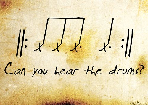 The Sound of Drums (This would actually be a very cool tattoo