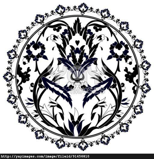Ottoman motifs design series with twenty version