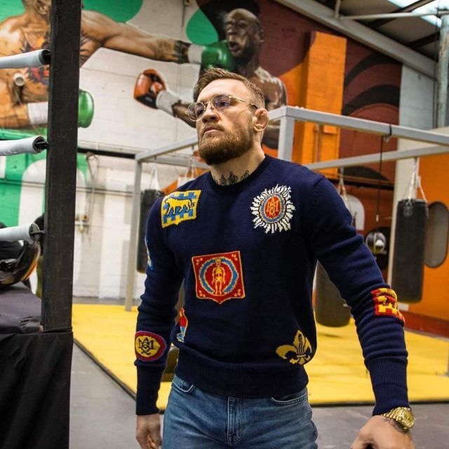 0dc927d3521 SPOTTED  Conor McGregor In Alexander McQueen Sweater