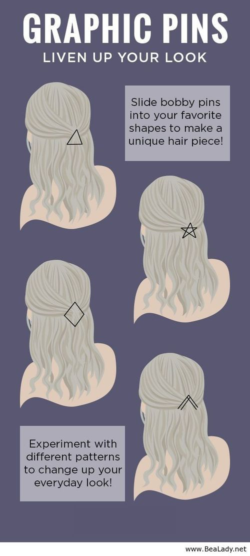 Create interesting, geometric patterns in your hair with instruments that cost less than $1. Make them stick by spraying them with Big Sexy Hair Spray and Play!