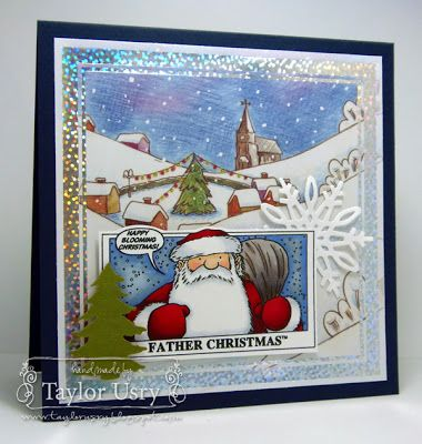 The Quiet Moments: Father Christmas colored with @SpectrumNoir featuring @Wendy Clinton Harris'sCompanion stamps and dies