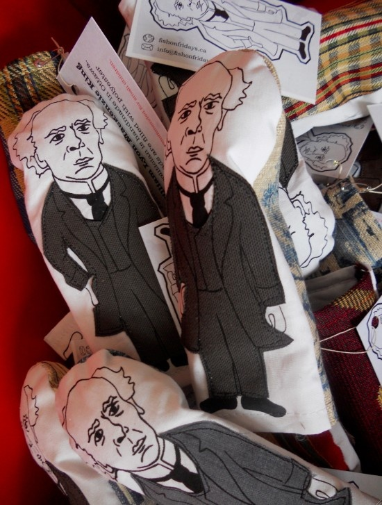 Sir Wilfrid Laurier finger puppet by Gabe Thirlwall