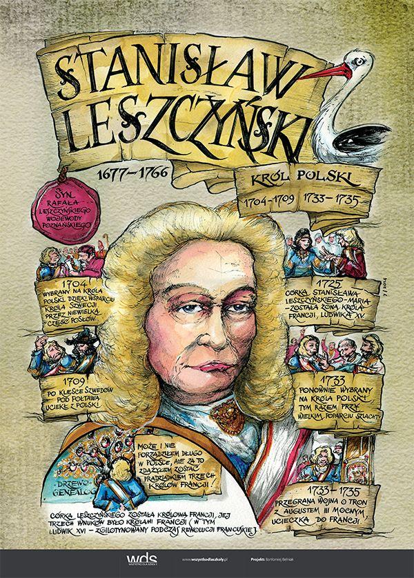 Stanisław Leszczyński - Poczet królów polskich - PlanszeDydaktyczne.pl