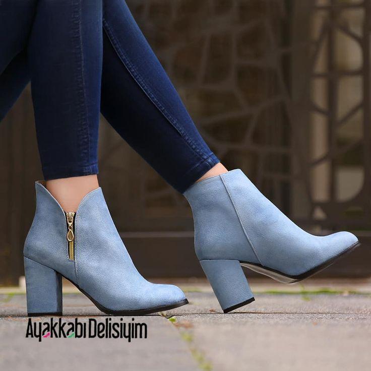 Mavi bot modeli rengi ile görenleri hayran bırakıyor. #bootieseason #bootie #blue