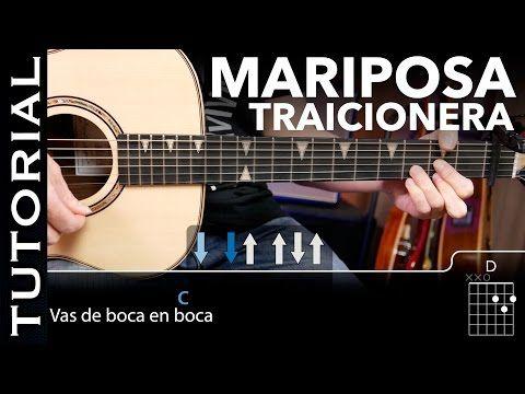 Cómo tocar Mariposa Traicionera de Maná en guitarra acordes y solo acústica guitarraviva - YouTube