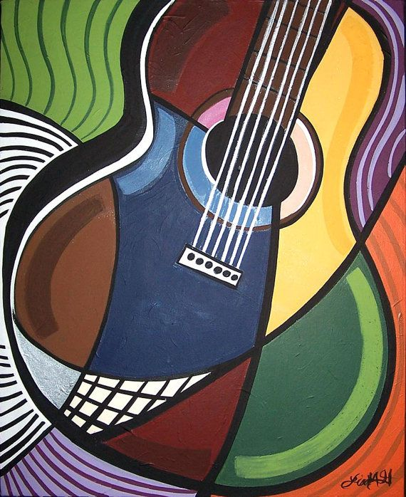 acosutic guitar music art print. #art #artwork #musicart  www.pinterest.com/TheHitman14/music-art-%2B/