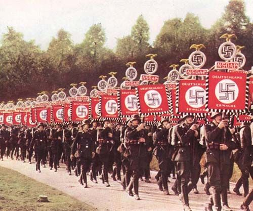 Nazi Party was not just a political organization, it was a psychological propaganda machine. The Nazis had an incredible sense of aesthetics and fully understood the power of iconography and brandi…