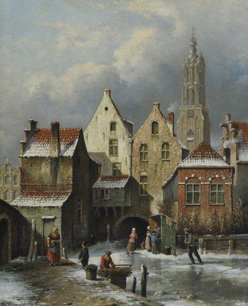 Winter in Amersfoort door O.R. de Jongh