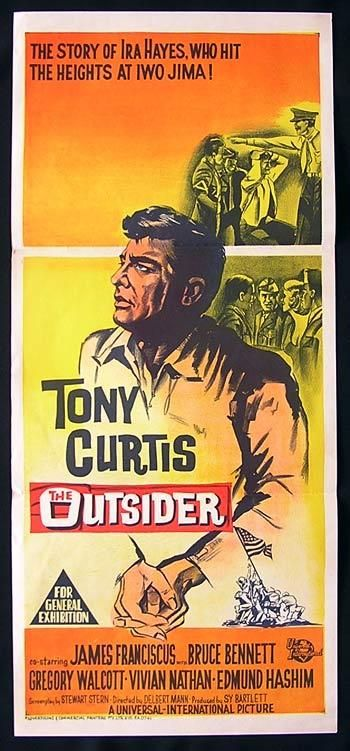 tony curtis movie posters | THE OUTSIDER Movie poster Tony Curtis Australian Daybill