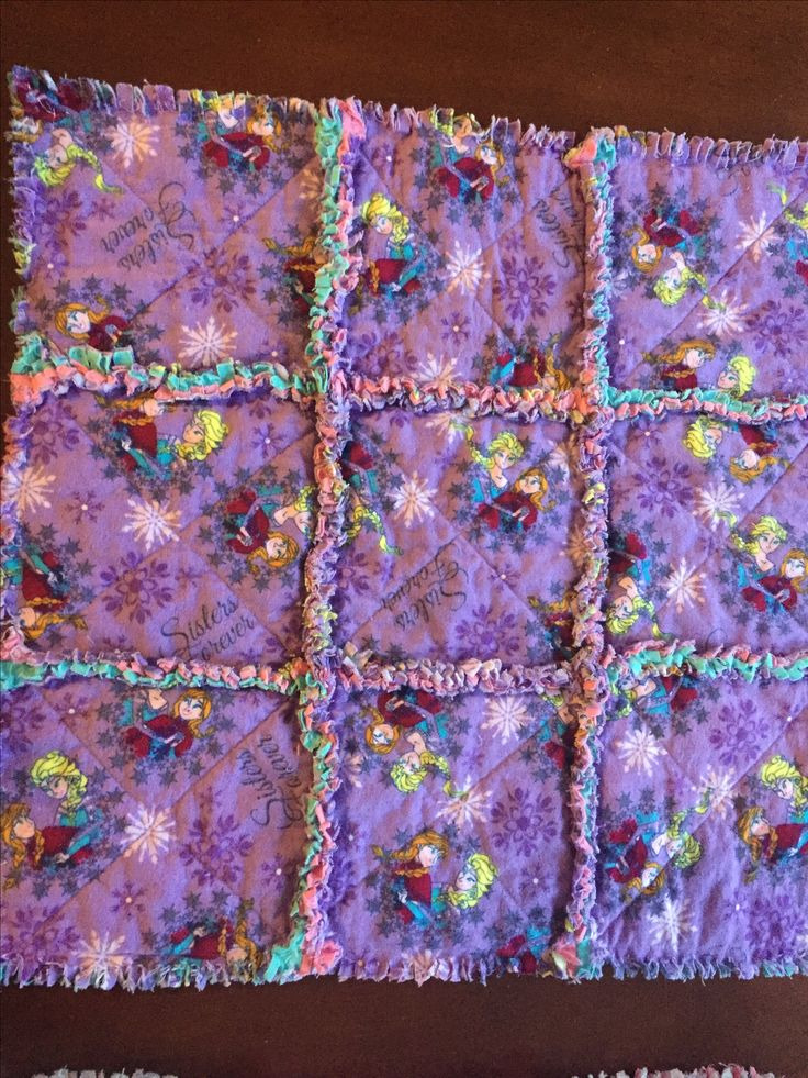 Rag quilt, for baby doll