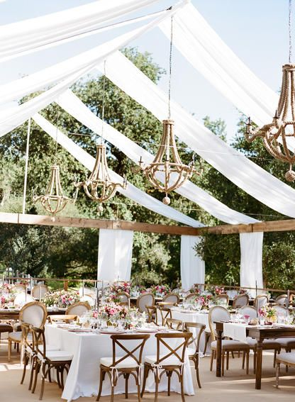 Open top tent via Shannon Leahy #whitewedding