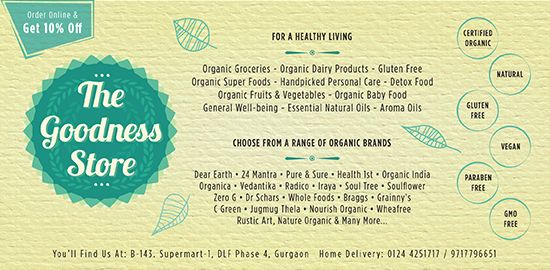 """Find organic product online India at """"the goodness store"""" at any time, anywhere. Here are the huge product's category of natural and fat free organic product. At of all, with its best delivery services it is the best store of organic products online India."""