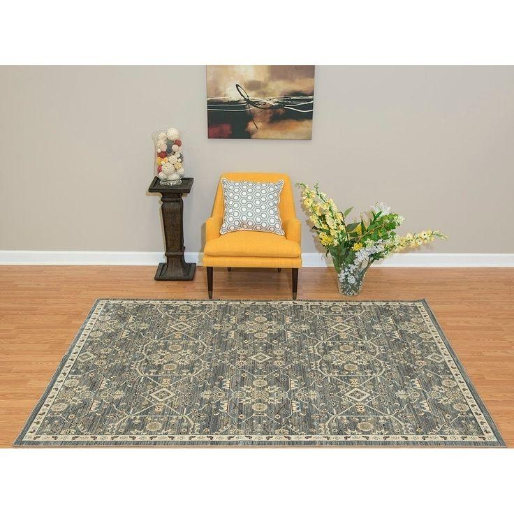 Westfield Home Royale Svana Blue/ Grey Oversized Area Rug (12'6 x 15'), Size 12' x 15'