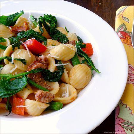 Skillet Orecchiette With Sausage And Broccoli Rabe Recipe — Dishmaps