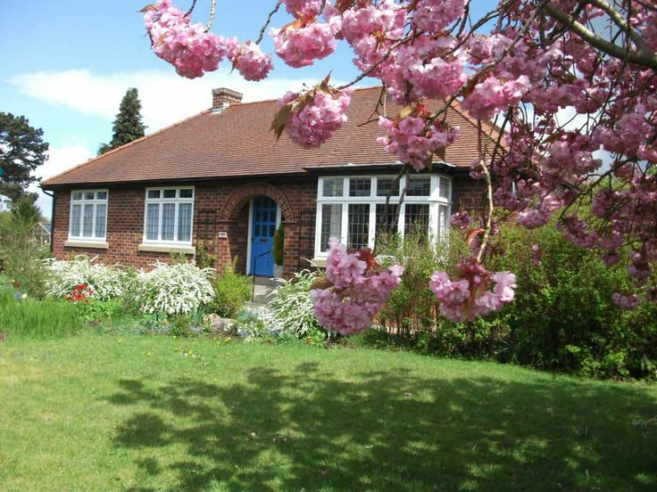 Nice little bungalow, but the flowering tree really sets it off and makes the picture.