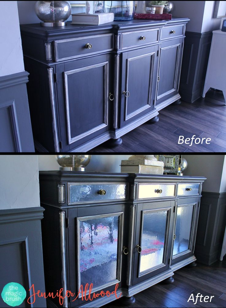 How to use contact paper to make a cabinet look MIRRORED