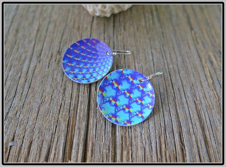 """""""Like Wow"""" Dye sublimation earrings with Sterling silver ear hooks"""
