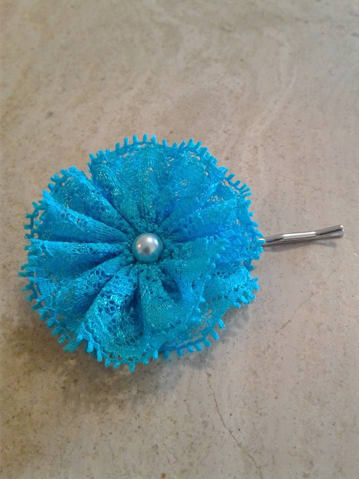 Lace flower hair pin