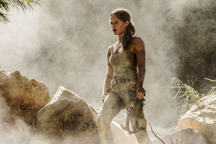 Alicia Vikander as Lara Croft in Tomb Raider reboot.