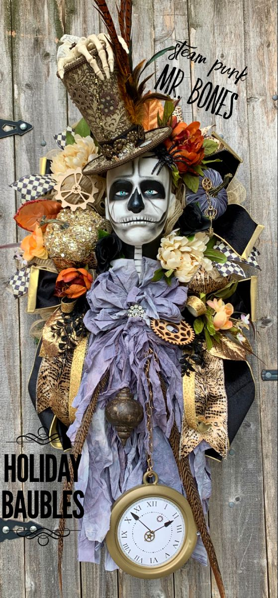 Steam Punk Mr. Bones 🍂💀🕷⚙️ in 2020 Spooky halloween