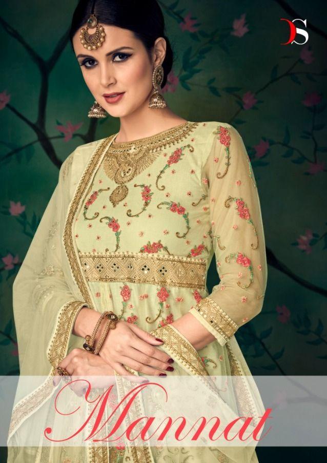 d046cdc701 Deepsy Suits Mannat Heavy Anarkali Style Butterfly Net with Heavy Embroidery  Khatli Handwork Salwar Kameez at Wholesale Rate