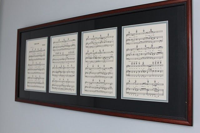 Frame first dance sheet music after your wedding.  Adds a special touch to your home decor.  Maybe in the master bedroom?