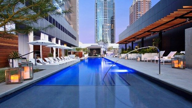 W Austin Hotel, one of the most luxurious downtown Austin hotels – located in the Second Street District and next door to the famed Austin City Limits music venue, in the center of the Live Music Capital of the World.