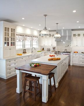 Transitional White Kitchen in NY - Traditional - Kitchen - new york - by Kuche+Cucina
