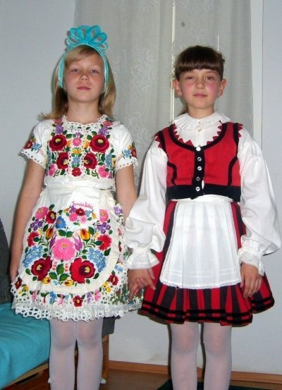 Two Hungarian girls: left, Kalocsa. Right, Szék, Transylvania