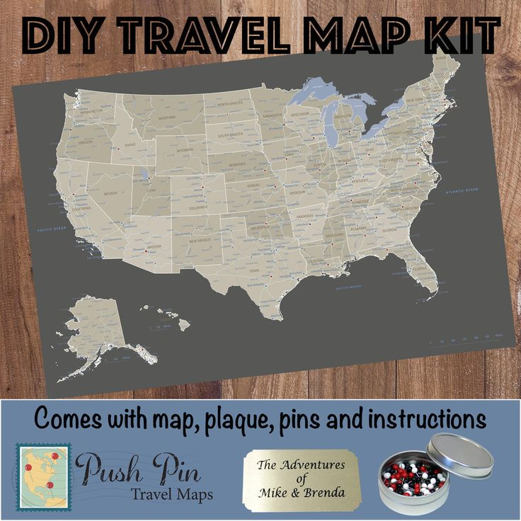 How To Make A Homemade Pinboard Map The Path Less Taken How To - Travel map us