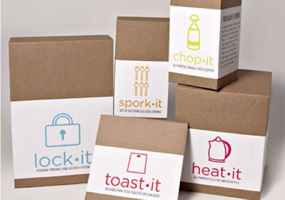 Iconic Culinary Packaging - Cook It Kitchen Gadgets are Rebranded for a New Consumer Base (GALLERY)