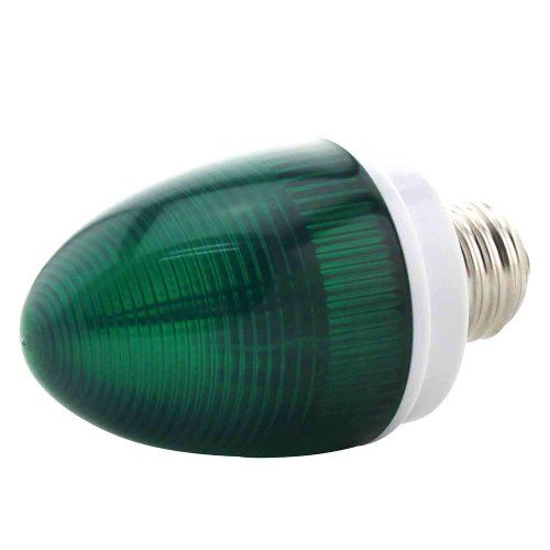 1byone® Type QS-0101 Mini Strobe Flashing Light E26 Screwed Ellipse Lights In Green, Apply Lighting For DJ Disco House Party Hotel Stage Office Camping Field Etc, Lighting For Halloween And Christmas