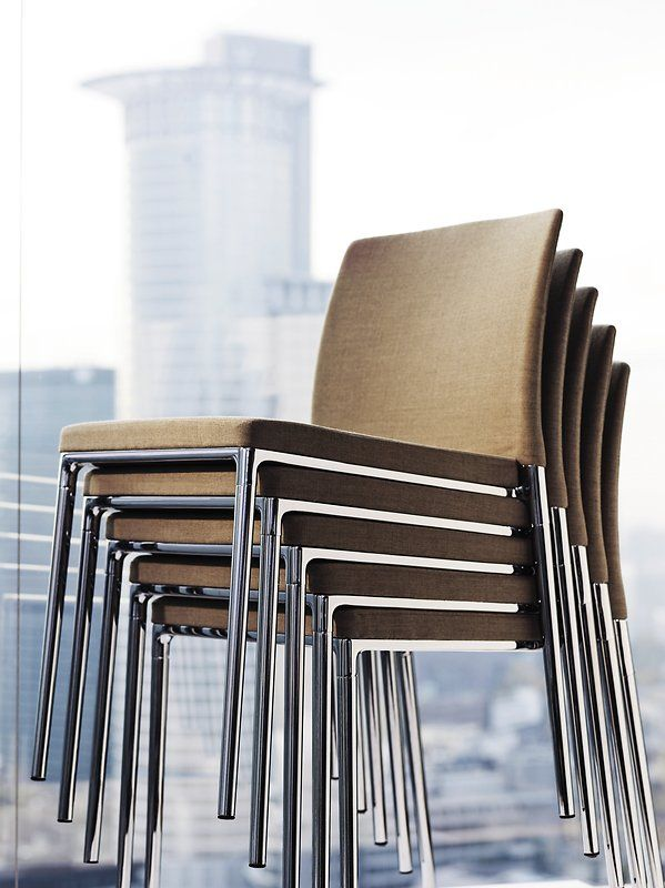 with or without armrests u2013 the upholstered fourlegged ceno chair from wilkhahn combines the of a stackable