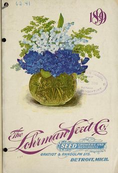 Illustrated front cover of The Lohrman Seed Co. catalogue 1899