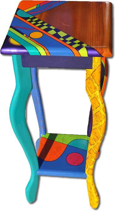 Whimsical Painted Furniture | Nancy Woods, custom art, hand painted furniture | One Offs Art & One ...