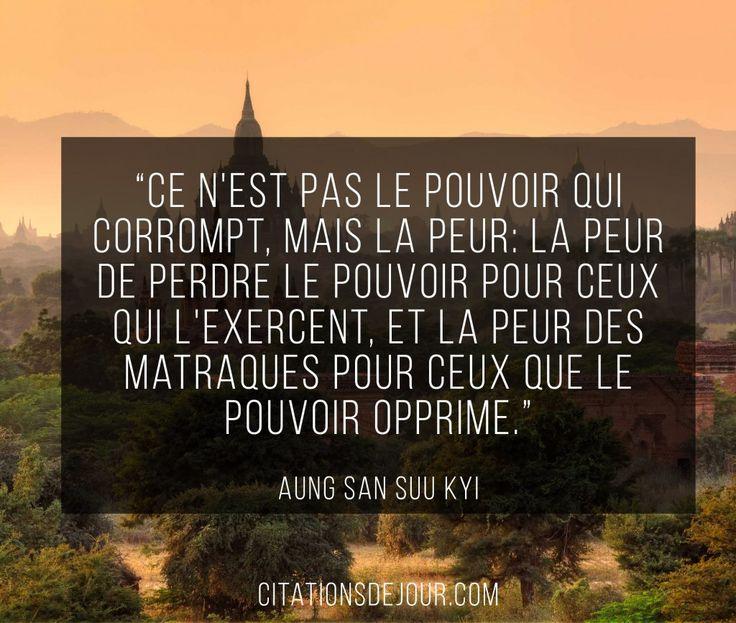 citation de Aung San Suu Kyi sur le pouvoir et la democratie