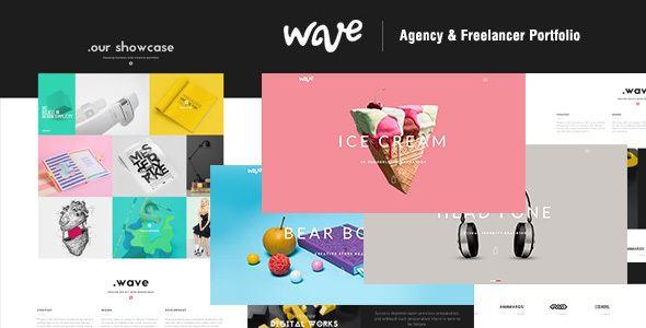 Wave   Agency & Freelancer Portfolio - Creative Site Templates