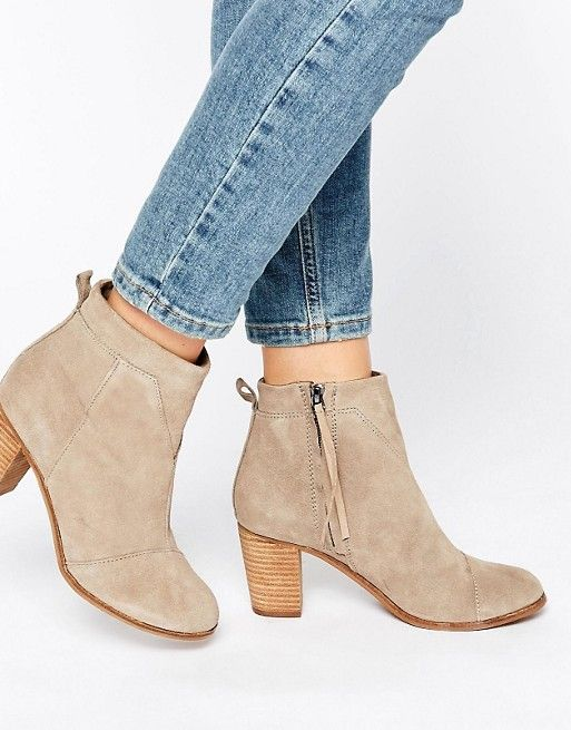 Toms | TOMS Taupe Suede Lunata Heeled Boots