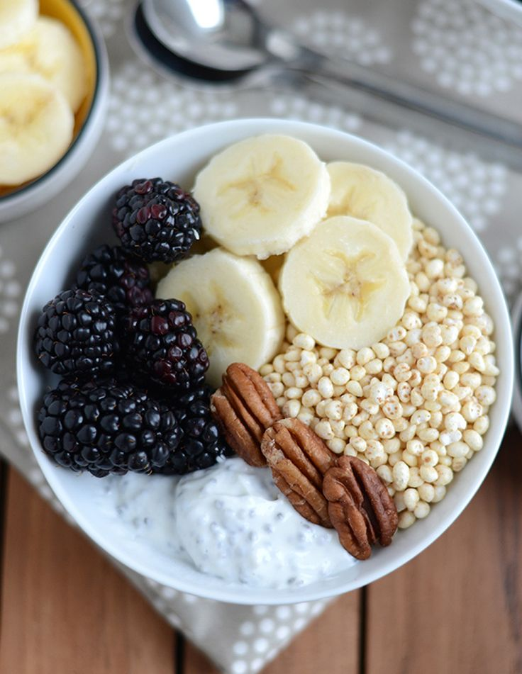 3. Chia Yogurt Power Bowl #healthy #breakfast #bowls http://greatist.com/eat/breakfast-bowls