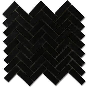 $12 sq ft matte black stone look herringbone tile mosaic http://www.thebuilderdepot.com/blkh1x3herrb.html?gclid=CImjp4eijM0CFQkyaQodYK0IUA