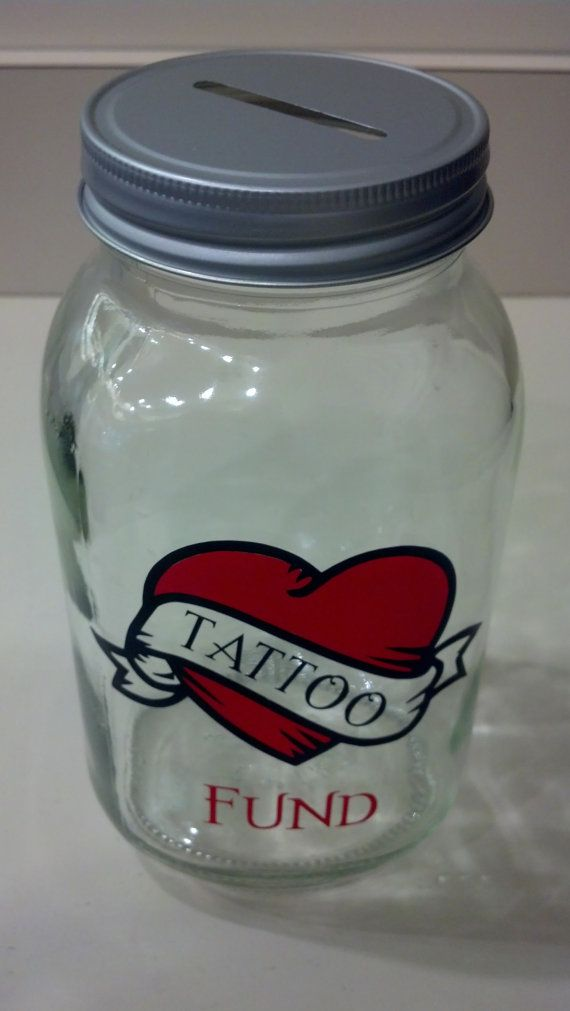 Hey, I found this really awesome Etsy listing at https://www.etsy.com/listing/165794127/tattoo-fund-32-ounce-jar-piggy-bank