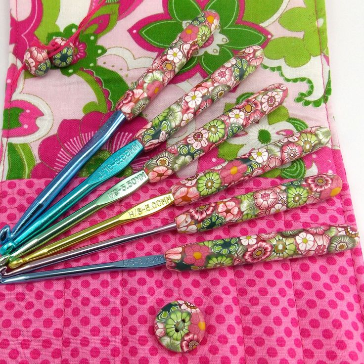 Crochet Hook Case with Set of Boye Crochet by polymerclayshed, $78.00