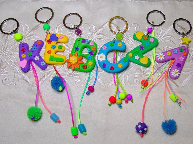 Letter key chains