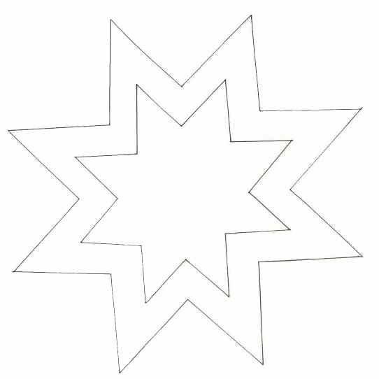 ЗВЕЗДА-украшение на елку-схема-трафарет